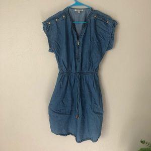 Boho T-shirt jean dress M. Made in New York.